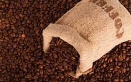 Preview wallpaper Many coffee beans, one bag