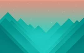 Preview wallpaper Mountains, vector art picture