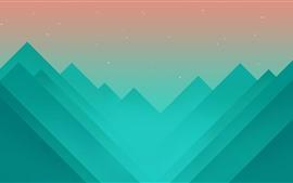 Montañas, imagen de arte vectorial
