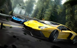 Need For Speed, Supercar Lamborghini amarillo