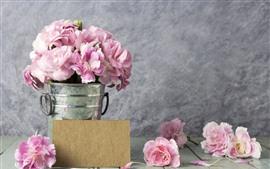Розовые розы, лепестки, капли воды