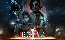 Preview wallpaper Resident Evil 2, PC game, rain
