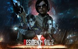 Resident Evil 2, juego de PC, lluvia