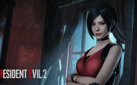 Resident Evil 2, chica de pelo corto