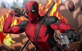 Preview wallpaper Spider-Man, sword, gun, DC comics