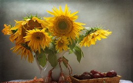 Preview wallpaper Sunflowers, grapes