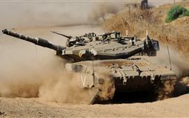 Tanque, polvo, arma, ejército.