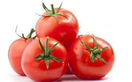 Preview wallpaper Tomatoes, vegetable, white background