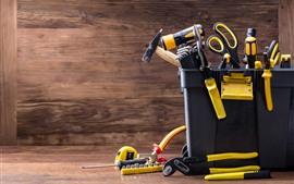 미리보기 배경 화면 툴 박스, 많은 도구