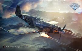 World of Warplanes, lutador, vôo, céu, nuvens