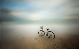 Preview wallpaper Bike, sea, coast