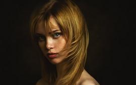 Блондинка, взгляд, лицо, глаза