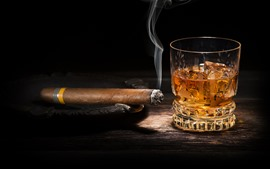 Preview wallpaper Cigar, whiskey
