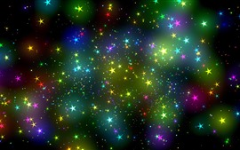 Preview wallpaper Colorful stars, sky, abstract design
