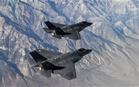 Preview wallpaper F-35C Lightning II fighter, flight