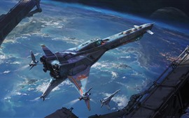 Preview wallpaper Fantasy art, spaceship, space