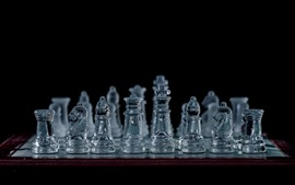 Preview wallpaper Glass chess