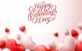 壁紙のプレビュー 幸せなバレンタインデー、愛の心、ロマンチックな