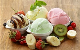 Preview wallpaper Ice cream, banana, strawberry
