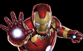 Preview wallpaper Iron Man, hands, superhero, black background