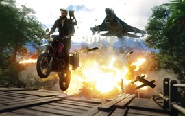 Just Cause 4, motorcycle, fighter
