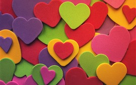 Preview wallpaper Many love hearts, colorful