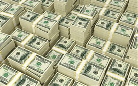 Preview wallpaper Many packs of US dollars, money, currency