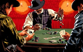 Preview wallpaper Red Dead Redemption 2, poker cards