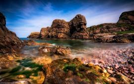 Preview wallpaper Rocks, sea, water, nature landscape