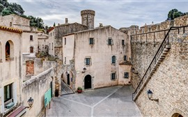 Preview wallpaper Spain, Girona, houses, town