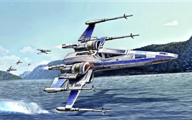 Preview wallpaper Star Wars, aircraft, art picture