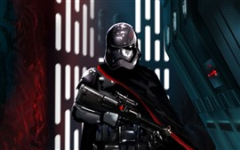 Preview wallpaper Star Wars, soldier, helmet, weapon, art picture