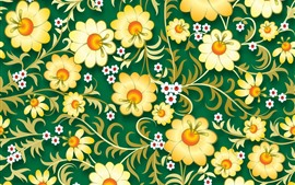 Preview wallpaper Vector flowers background