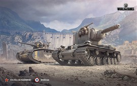 Preview wallpaper World of Tanks, mountains, war