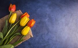 Tulipes jaunes et oranges, bouquet