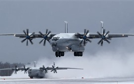 Preview wallpaper An-22 transport aircraft, landing