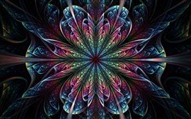 Красивый абстрактный цветок, узор, разноцветный