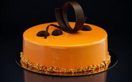 Preview wallpaper Cake, orange, chocolate