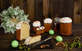 Preview wallpaper Cakes, eggs, knife, Easter