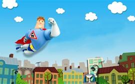壁紙のプレビュー 都市、スーパーマン、漫画