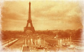 Preview wallpaper France, Eiffel Tower, old photo