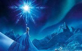 Congelado, Elsa, noite, floco de neve