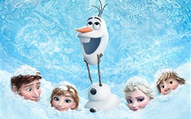 Preview wallpaper Frozen, thick snow, Cartoon movie
