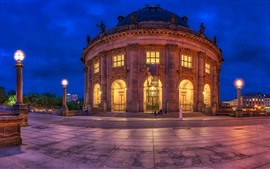 Preview wallpaper Germany, Berlin, Bode-Museum, night, lights