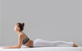 Preview wallpaper Girl, yoga, pose, fitness