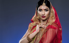 India girl, decoration, veil