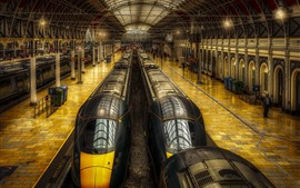 Preview wallpaper London, England, Paddington Station, trains, hall