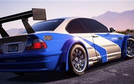 Preview wallpaper Need For Speed, BMW sports car back view