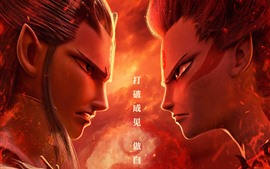 Preview wallpaper Nezha, face to face, Chinese movie