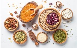 미리보기 배경 화면 견과류, 곡물, 콩, 씨앗